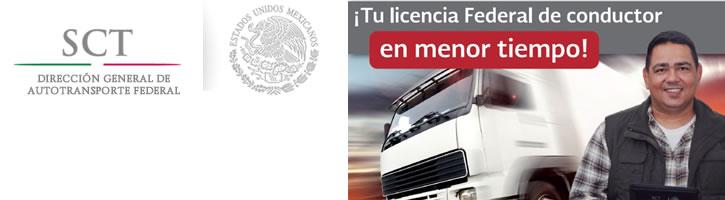 Tu Licencia Federal de Conductor en menor tiempo