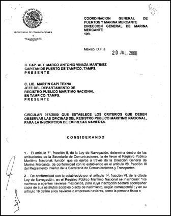 Circular 017 2000 que establece los criterios que deben for Oficinas del registro de la propiedad